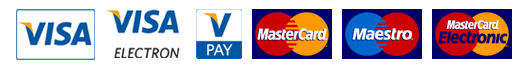 Pay online with VISA, MasterCard, Maestro